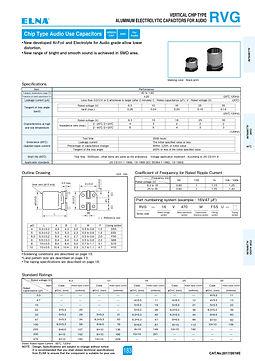 Elna RVG Series Aluminum Electrolytic Capacitors
