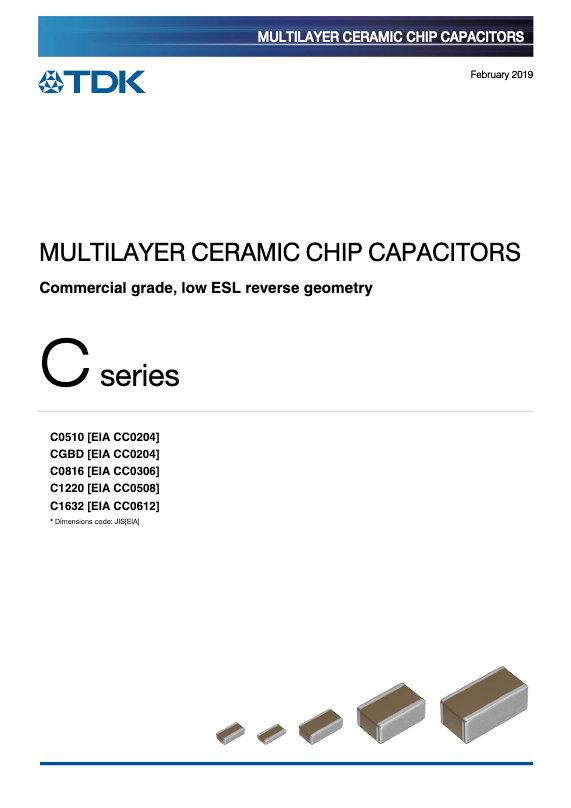 TDK C Series Reverse Geometry Low MLC Chip Capacitors