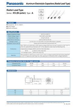 Panasonic KS Bi Polar Series Aluminum Capacitors