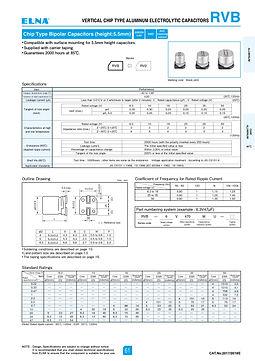 Elna RVB Series Aluminum Electrolytic Capacitors