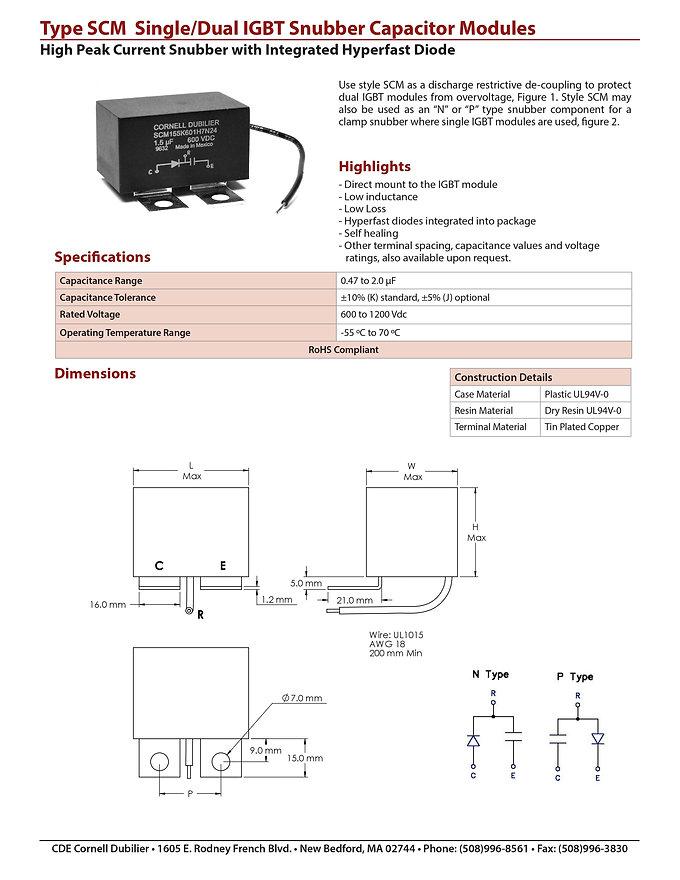 CDE Type SCM Film Capacitors