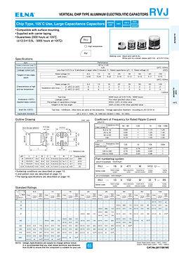 Elna RVJ Series Aluminum Electrolytic Capacitors