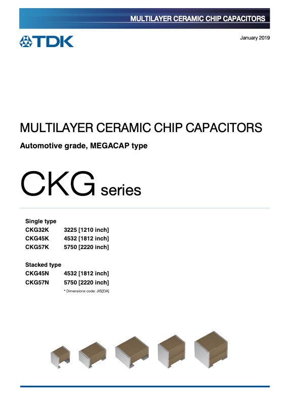 TDK CKG Series Automotive Grade MEGACAP MLC Capacitors