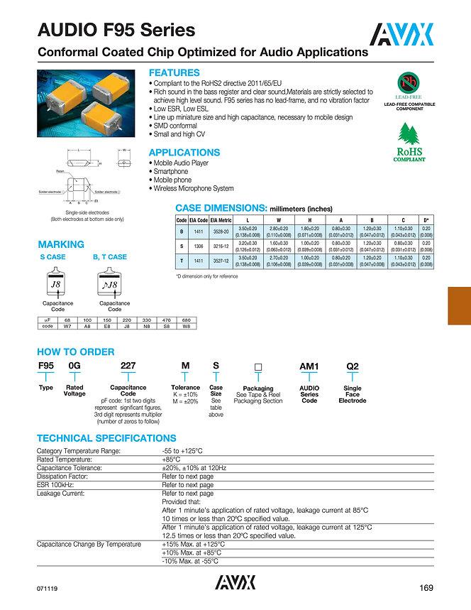 AVX Audio F95 Series Tantalum Capacitors