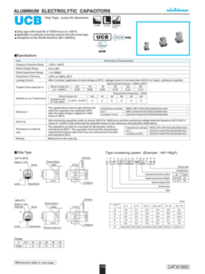Nichicon UCB Series Aluminum Electrolytic Capacitors