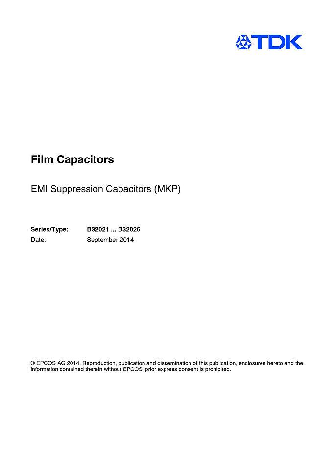 Epcos B32021 Series EMI Suppression Capacitors