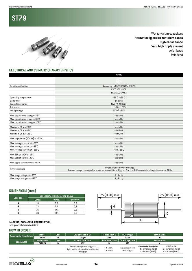 Exxelia ST79 Series Wet Tantalum Capacitors