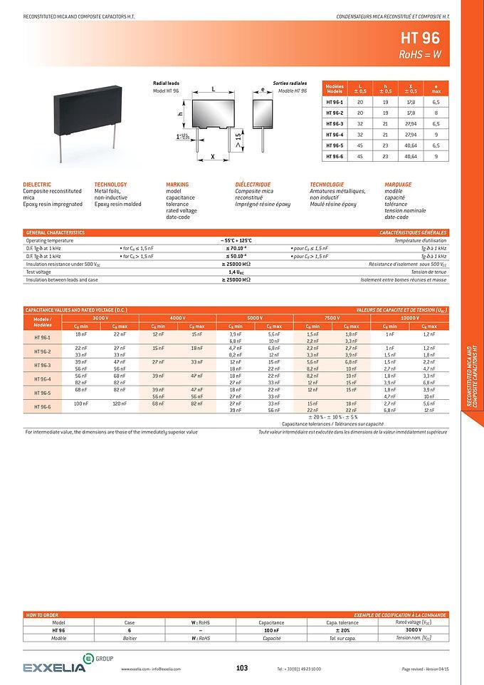 Exxelia HT 96 Series Film Capacitors