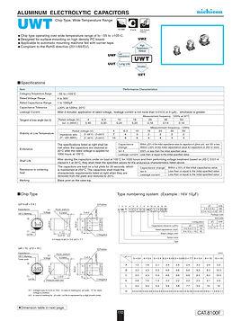 Nichicon UWT Series Aluminum Capacitors