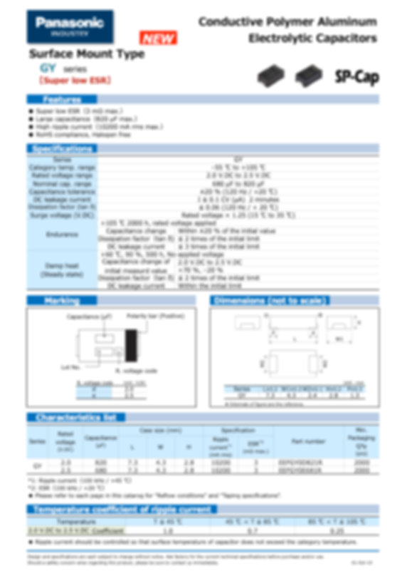 Panasonic GY Series