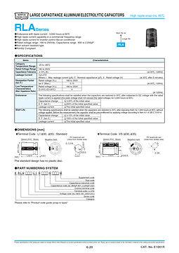 Nippon Chemi Con RLA Series Aluminum Electrolytic Capacitors