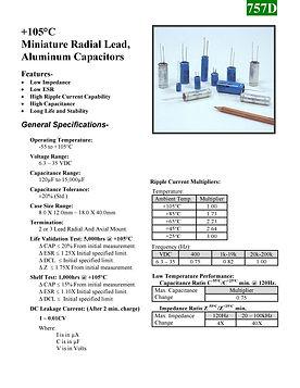 BMI 757D Series Aluminum Capacitors