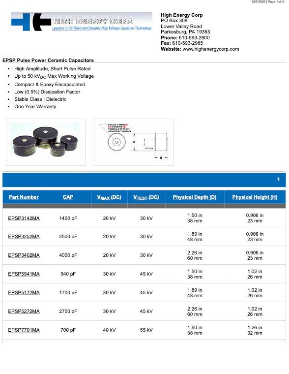 High Energy Corp. EPSP Series