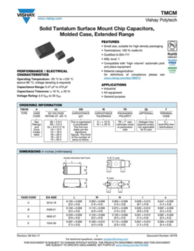 Vishay TMCM Series Tantalum Capacitors