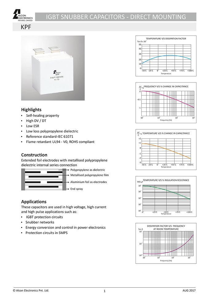 Alcon Electronics KPF Series Film Capacitors