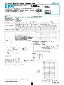Nichicon UPM Series Aluminum Electrolytic Capacitors
