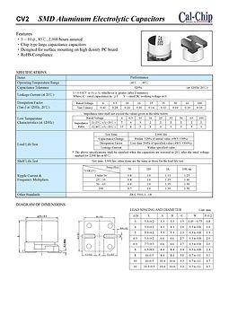 Cal Chip CV2 Series SMT Aluminum Electrolytic Capacitors