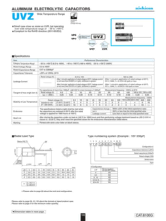 Nichicon UVZ Series Aluminum Electrolytic Capacitor