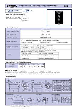Rubycon LHR Series Aluminum Electrolytic Capacitors