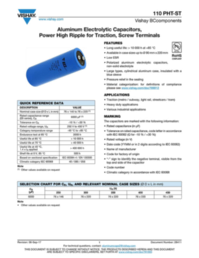 Vishay 110 PHT-ST Series Aluminum Electrolytic Capacitors