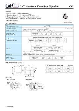 Cal Chip CVI Series SMT Aluminum Electrolytic Capacitors