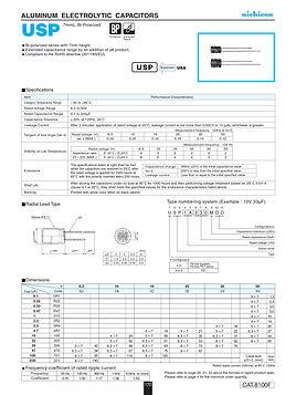 Nichicon USP Series Aluminum Capacitors