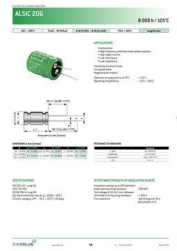 SIC SAFCO ALSIC 20G Series Aluminum Capacitors