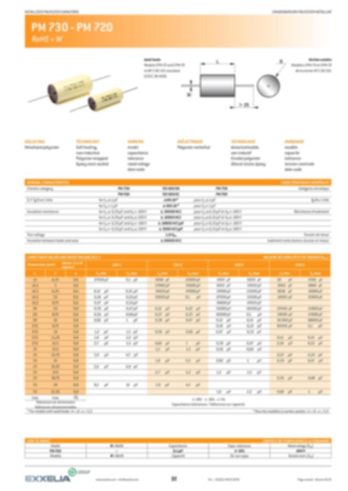 Exxelia PM 730 - PM 720 Series Film Capacitors