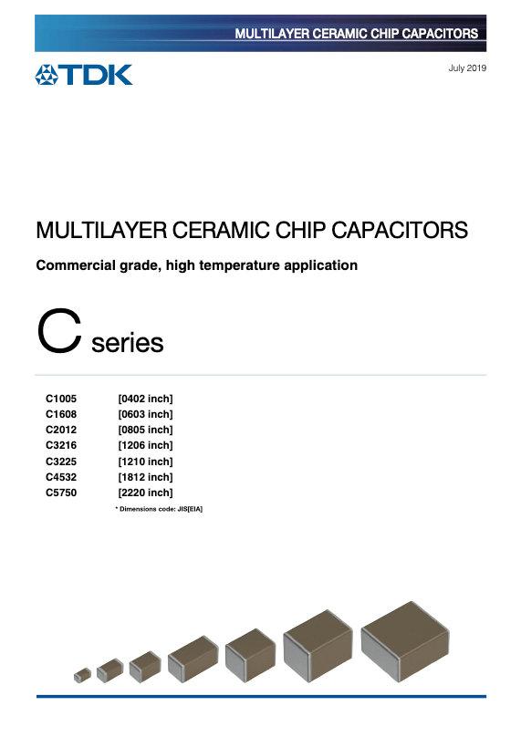 TDK C Series High Temperature MLC Capacitors