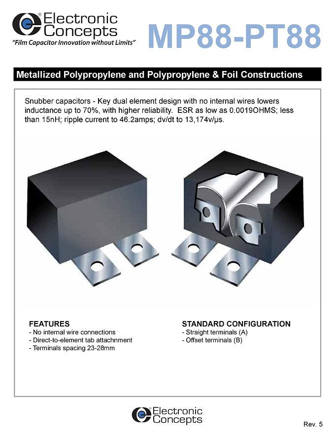 Electronic Concepts MP88 PT88 Series Snubber Capacitors