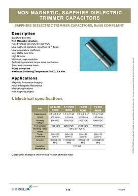 Exxelia Non Magnetic Sapphire Trimmer Capacitors