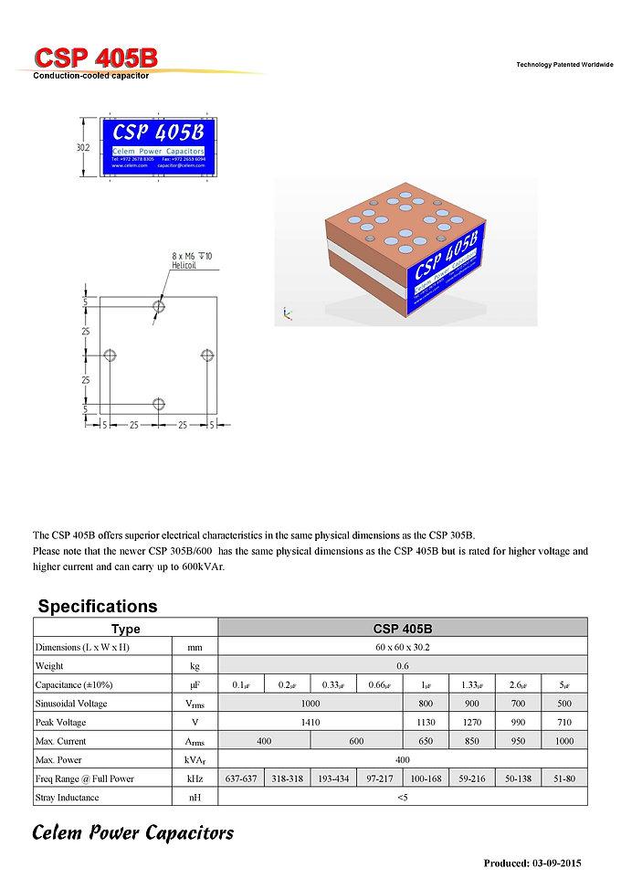 Celem  CSP 405B Series Film Capacitors