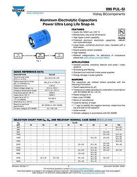 Vishay 090 PUL-SI Series Aluminum Electrolytic Capacitors