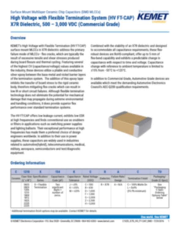 KEMET X7R HV FT-CAP MLC Capacitors