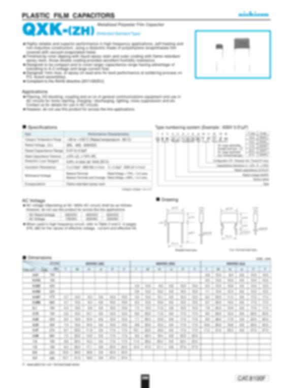Nichicon QXK (ZH) Series Plastic Film Capacitors
