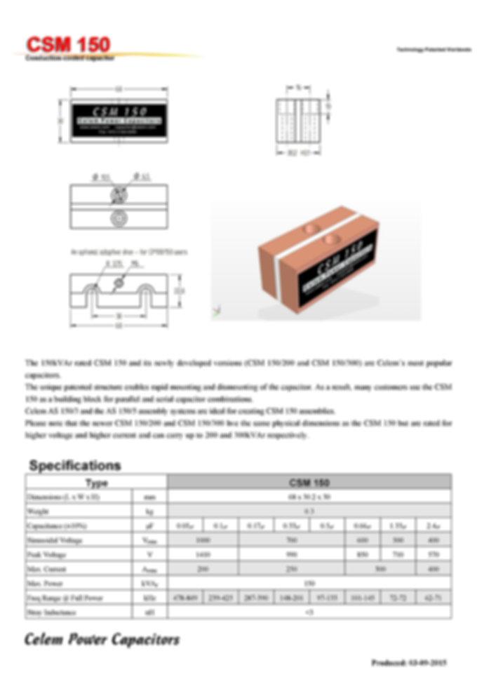 Celem CSM 150 Series Film Capacitors