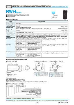 Nippon Chemi Con RWH Series Aluminum Electrolytic Capacitors