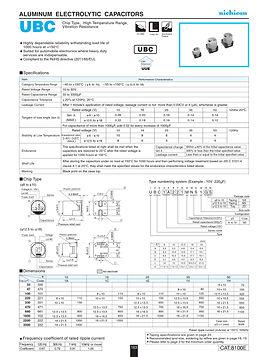 Nichicon UBC Series Aluminum Electrolytic Capacitors