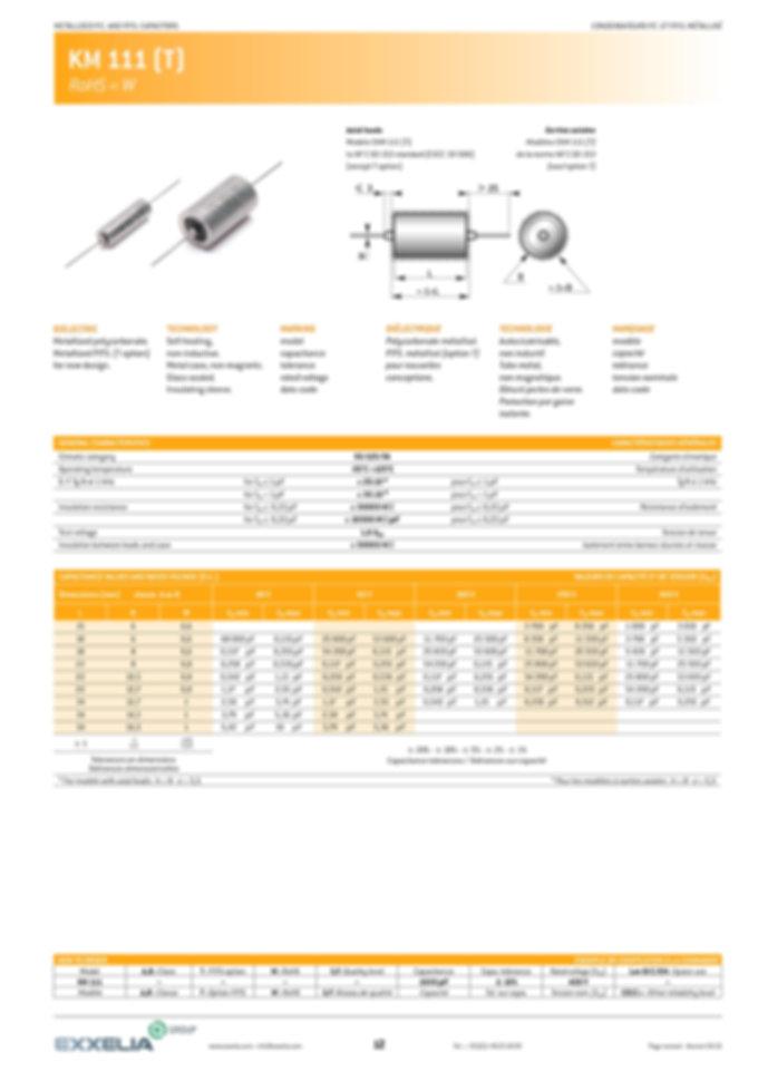 Exxelia KM 111 Series Film Capacitors