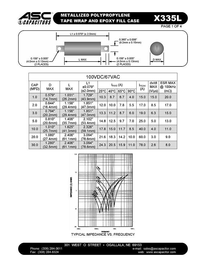 ASC X335L Series Film Capacitors