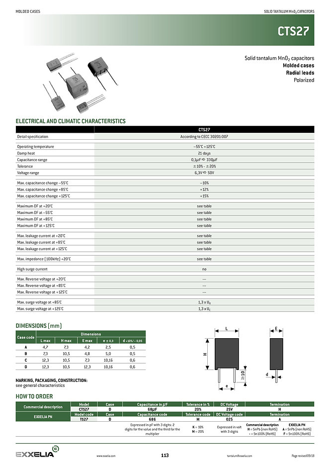 Exxelia CTS27 Series