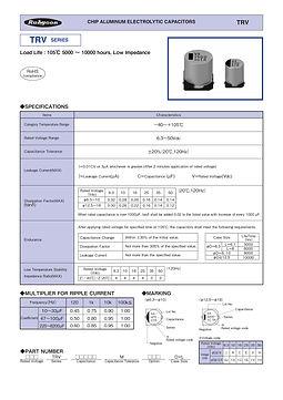Rubycon TRV Series Aluminum Capacitors