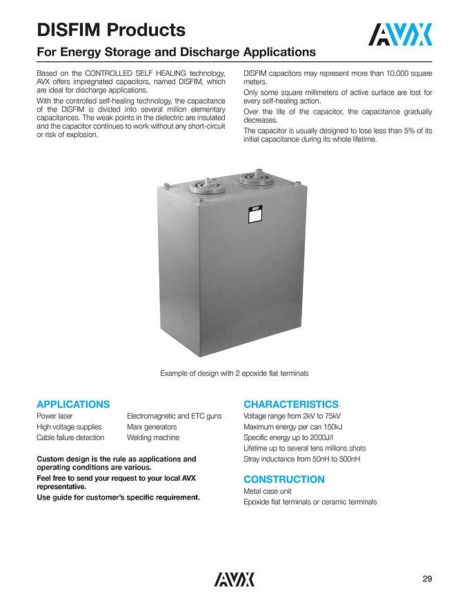 AVX DISFIM Series Film Capacitors