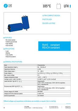 Fischer & Tausche LFH Series Aluminum Capacitors