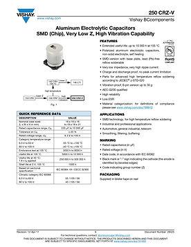Vishay 250 CRZ-V Series Aluminum Electrolytic Capacitors