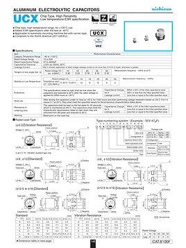 Nichicon UCX Series Aluminum Capacitors