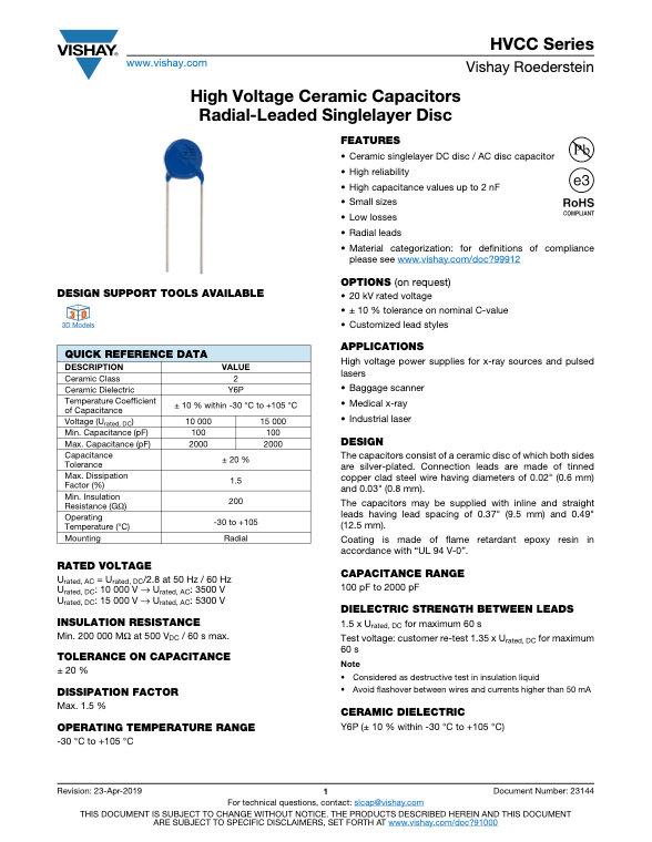 Vishay HVCC Capacitors