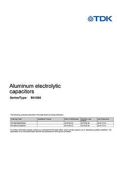 Epcos B41866 Series Aluminum Electrolytic Capacitors