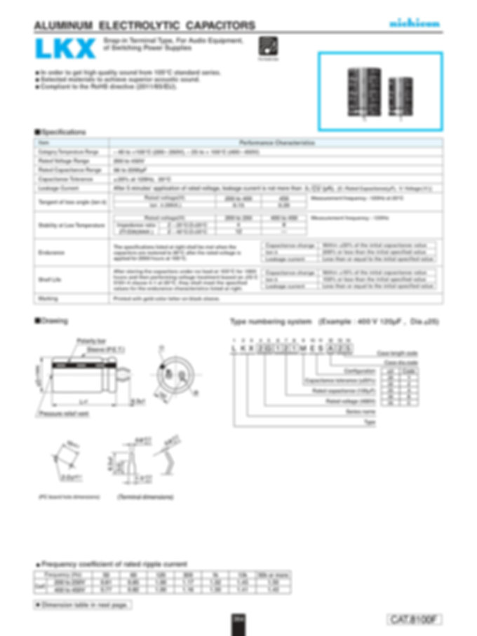 Nichicon LKX Series Aluminum Capacitors