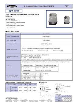 Rubycon TLV Series SMT Aluminum Electrolytic Capacitors